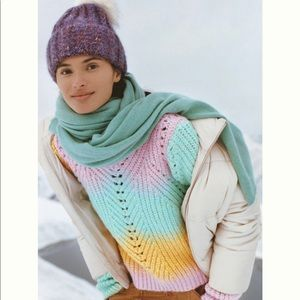 Anthropologie Rainbow Knit Jovie Sweater Pullover